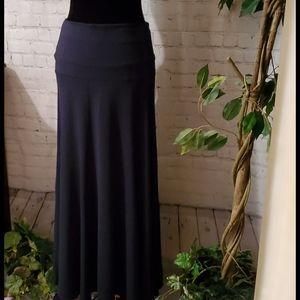 Cabi Navy Maxi Skirt Medium